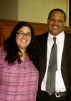 Emaleigh Doley with Carlton Williams, Deputy Commissioner of Philadelphia Streets Department