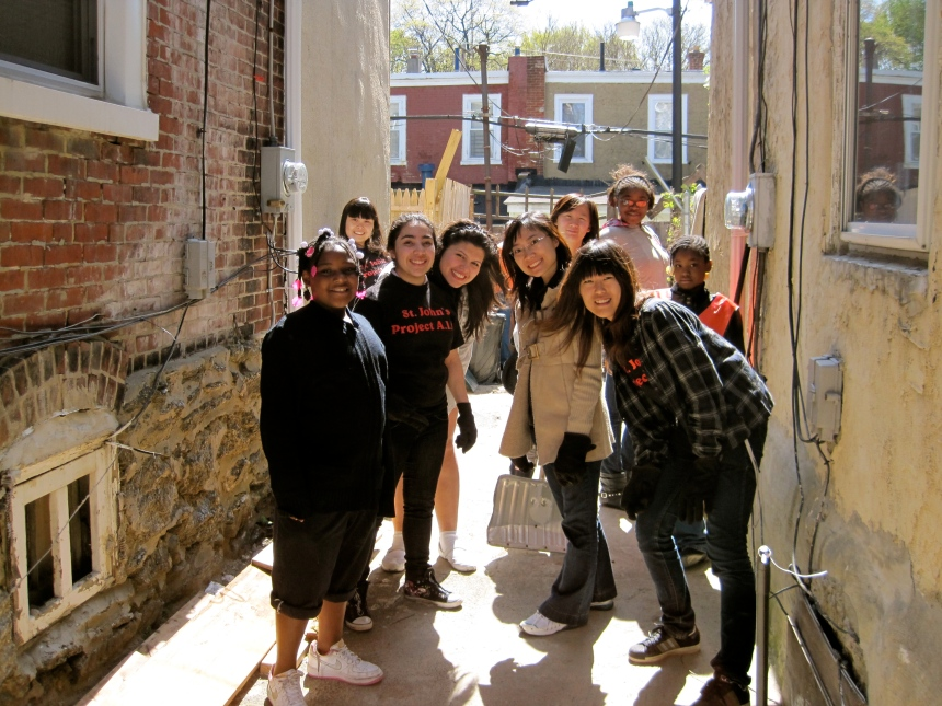 Cleaning the alley during the 2010 Philly Spring Cleanup