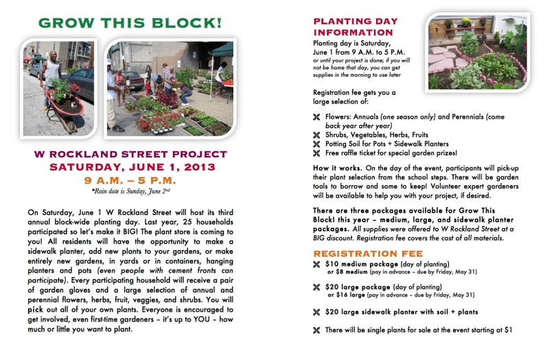 Grow This Block! resident flyer