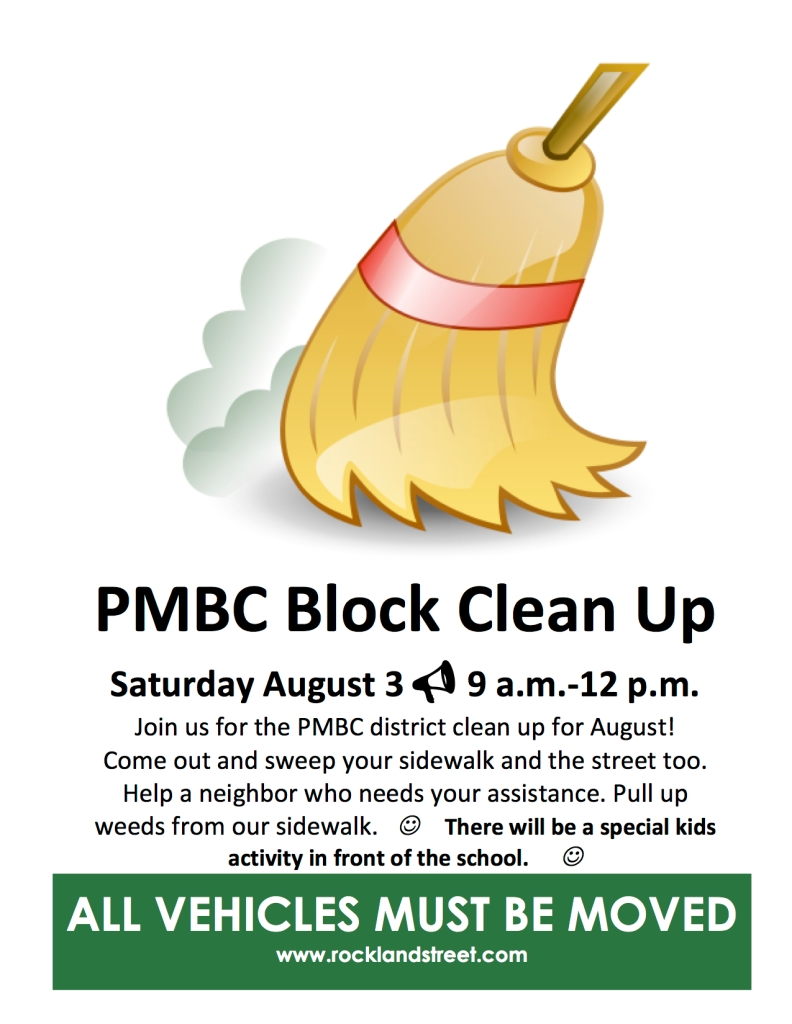 Flyer: Block Cleanup August 3