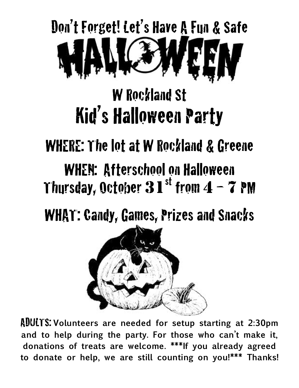 Boo! West Rockland Street Kid's Halloween Party | The W Rockland ...