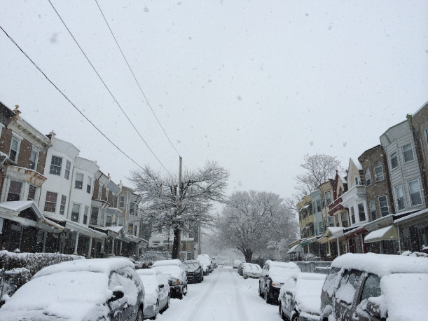 W Rockland Street on Monday, February 3, 2014. Photo by @ainedoley via Instragram.