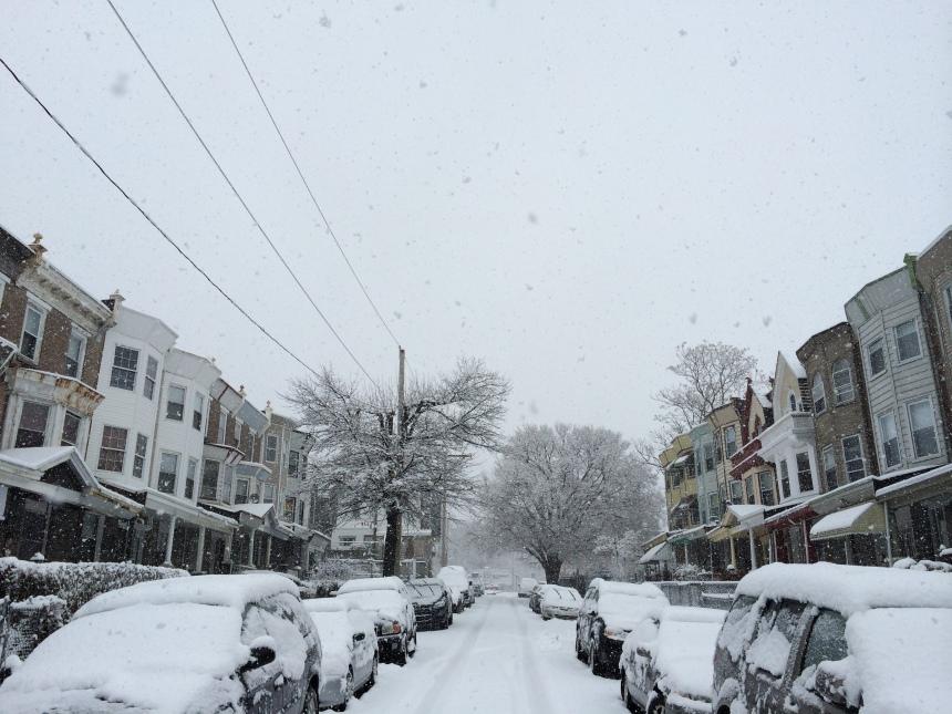 W Rockland Street on Monday, February 3, 2014. Photo by @ainedoley via Instragram.