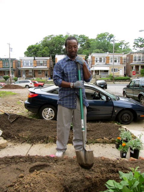 Herb quickly learned how to become a master gardener at Grow This Block! in 2012