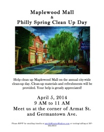 Maplewood Clean Up
