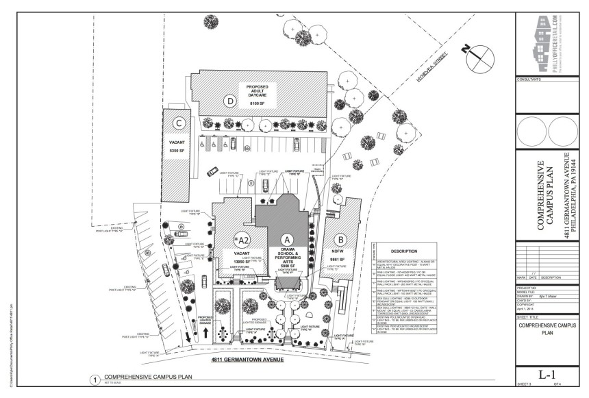 A diagram of the former Germantown Settlement Campus, courtesy of Ken Weinstein. Click to enlarge.