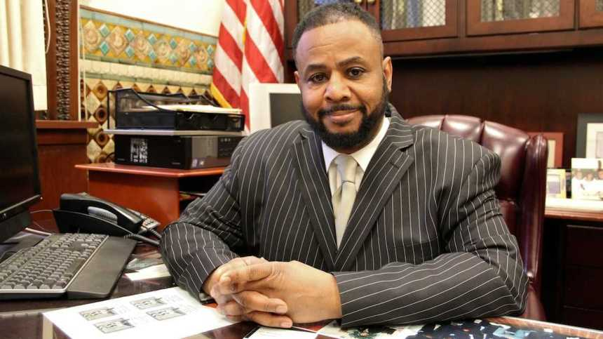 Fourth District City Councilman Curtis Jones Jr. (via Emma Lee/for NewsWorks)