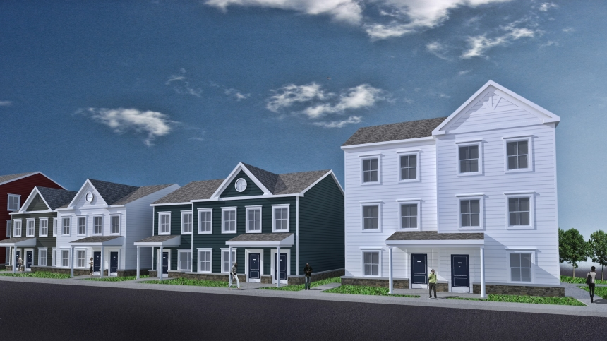 Rendering of Nicole Hines Townhouse development courtesy of Women's Community Revitalization Project