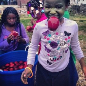 For Halloween in 2013, the W Rockland St Project organized a kid's party in the vacant lot with candy, games and prizes.